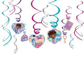 Doc McStuffins Hanging Foil Swirl Decorations (6 Piece)