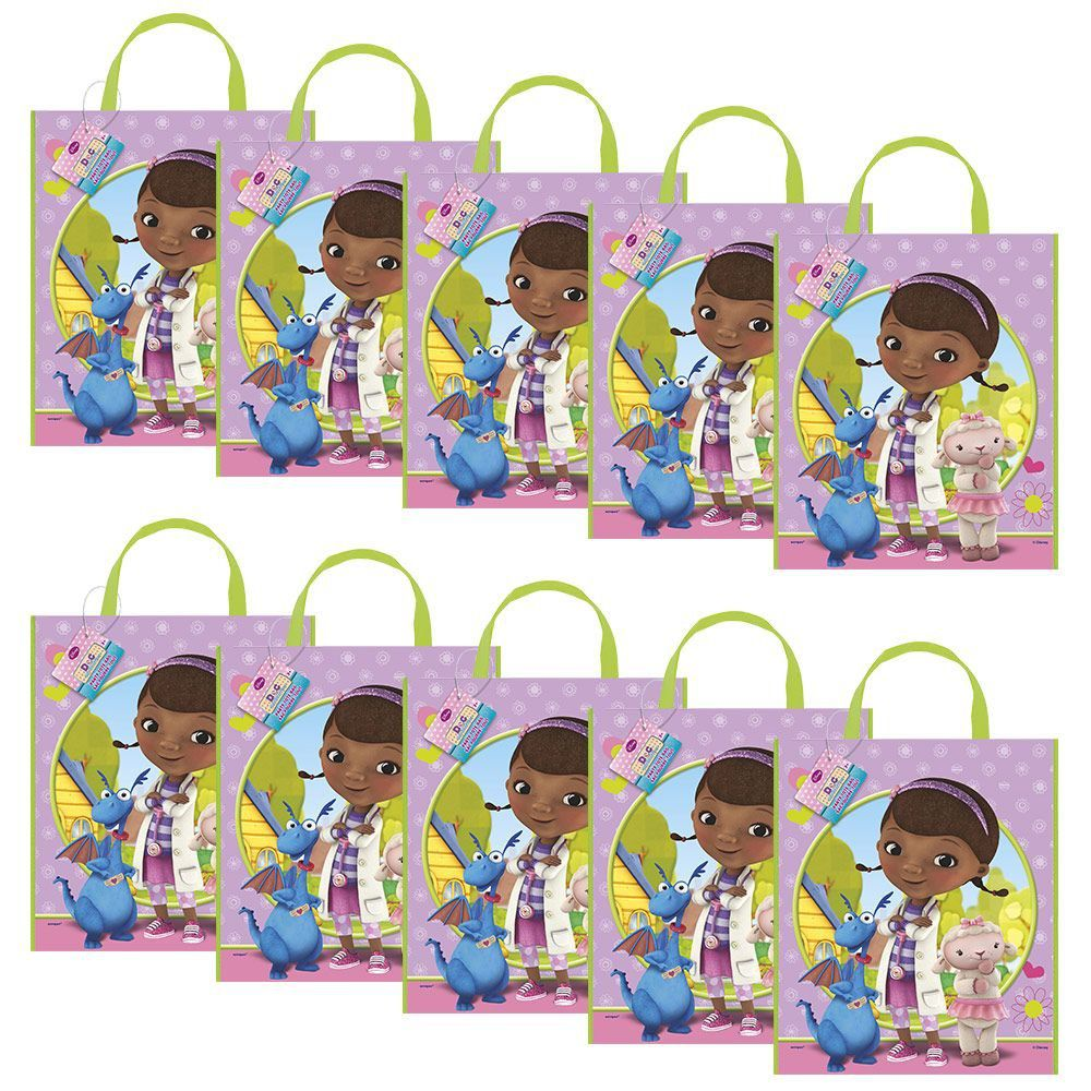 Doc McStuffins Party Tote Bag (Set of 10)  sc 1 st  Birthday in a Box & Doc Mcstuffins Party Tote Bag - kids and adults Favor Bags \u0026 Boxes ...