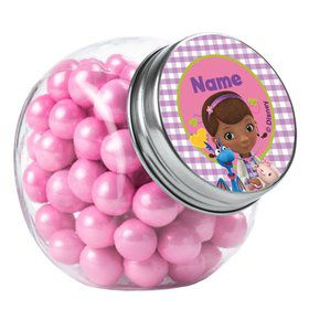 Doc McStuffins Personalized Plain Glass Jars (10 Count)