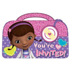 Doc McStuffins Postcard Invitations (8 Pack)