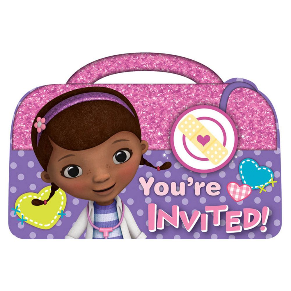 Doc Mcstuffins Postcard Invitations (8 Pack) BB491352
