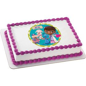 Doc McStuffins Quarter Sheet Edible Cake Topper (Each)
