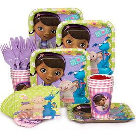 Doc McStuffins Standard Birthday Party Tableware Kit (Serves 8)