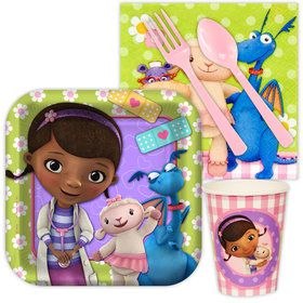 Doc McStuffins Standard Birthday Party Tableware Kit Serves 8