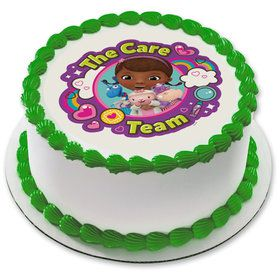 "Doc McStuffins Team Care 7.5"" Round Edible Cake Topper (Each)"