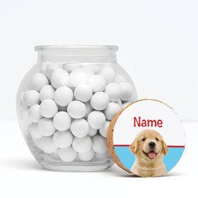 """Dog Party Personalized 3"""" Glass Sphere Jars (Set of 12)"""
