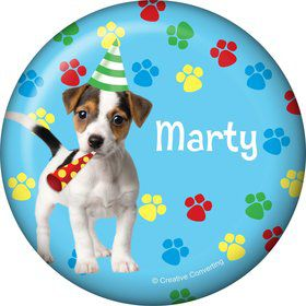 Dog Party Personalized Button (each)