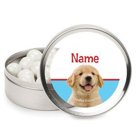 Dog Party Personalized Candy Tins (12 Pack)