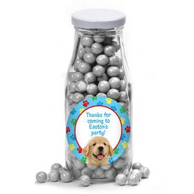 Dog Party Personalized Glass Milk Bottles (10 Count)