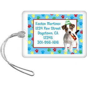 Dog Party Personalized Luggage Tag (each)
