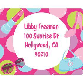 Doll Party Personalized Address Labels (Sheet of 15)