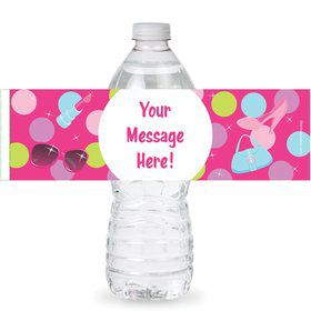 Doll Party Personalized Bottle Labels (Sheet of 4)