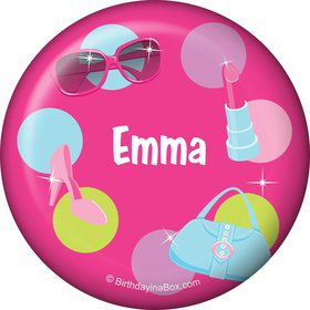 Doll Party Personalized Button (each)