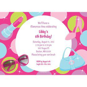 Doll Party Personalized Invitation (each)