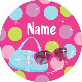 Doll Party Personalized Mini Stickers (Sheet of 20)