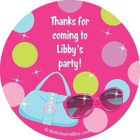 Doll Party Personalized Sticker (sheet of 12)
