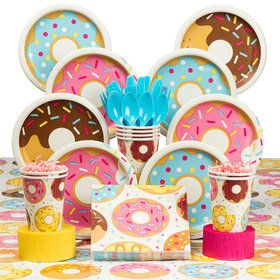 Donut Party Deluxe Tableware Kit (Serves 8)
