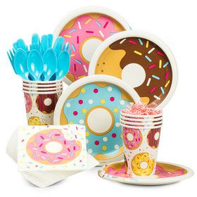 Donut Party Standard Tableware Kit (Serves 8)