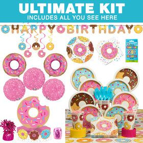 Donut Party Ultimate Tableware Kit (Serves 8)