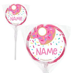 "Donut Personalized 2"" Lollipops (20 Pack)"
