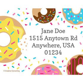 Donut Personalized Address Labels (Sheet of 15)
