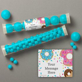 Donut Personalized Candy Tubes (12 Count)