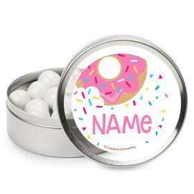 Donut Personalized Mint Tins (12 Pack)
