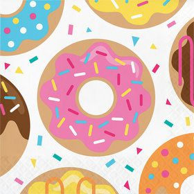 Donut Time Lunch Napkins (16 Count)
