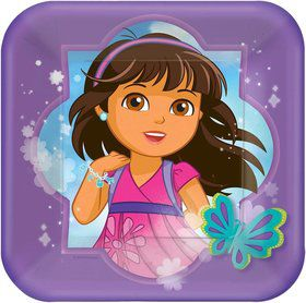 """Dora and Friends 7"""" Cake Plates (8 Pack)"""