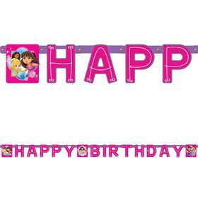 Dora and Friends Birthday Paper Banner (Each)