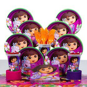Dora Birthday Party Deluxe Tableware Kit Serves 8