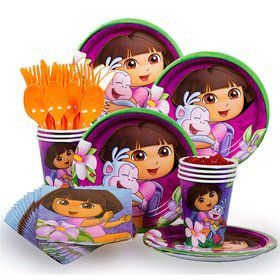 Dora Birthday Party Standard Tableware Kit Serves 8