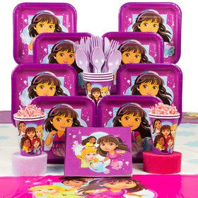 Dora & Friends Birthday Party Deluxe Tableware Kit Serves 8