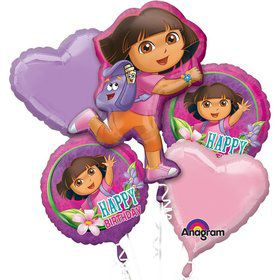 Dora The Explorer Bday Balloon Bouquet (5 Pack)