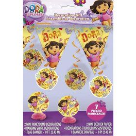 Dora the Explorer Decoration Kit (7 Pieces)