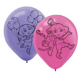 "Dora's Flower Adventure 12"" Latex Balloons (6 Pack)"