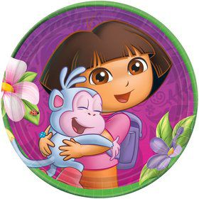 "Dora's Flower Adventure 7"" Plates (Set Of 8)"