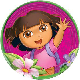 "Dora's Flower Adventure 9"" Plates (Set Of 8)"