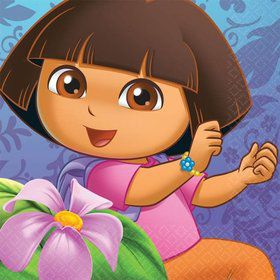 Dora's Flower Adventure Beverage Napkins (Set Of 16)