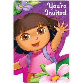 Dora's Flower Adventure Invitations (Set Of 8)