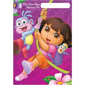 Dora's Flower Adventure Loot Bags (Set Of 8)