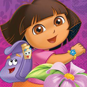 Dora's Flower Adventure Luncheon Napkins (Set Of 16)