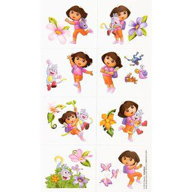 Dora's Flower Adventure Tattoos (Set Of 16)