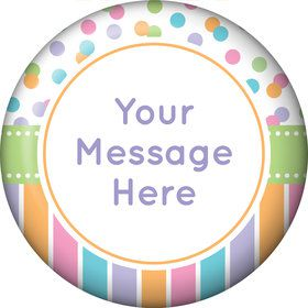 Dots and Stripes Baby Shower Personalized Magnet (Each)