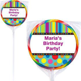 Dots And Stripes Lollipops (Pack Of 12)