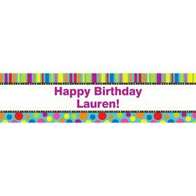 Dots And Stripes Personalized Banner (Each)