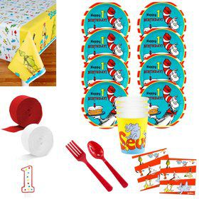 Dr. Seuss 1st Birthday Deluxe Tableware Kit (Serves 8)