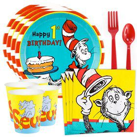 Dr. Seuss 1st Birthday Standard Tableware Kit (Serves 8)