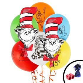 Dr. Seuss Cat in the Hat Jumbo Balloon Bouquet