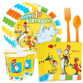 Dr. Seuss Favorites 1st Birthday Standard Tableware Kit (Serves 8)